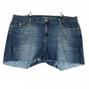 Levi's Modern Shorts Cut Off Denim Blue Jean 36